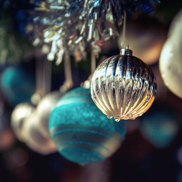 Christmas Gold and Turquoise