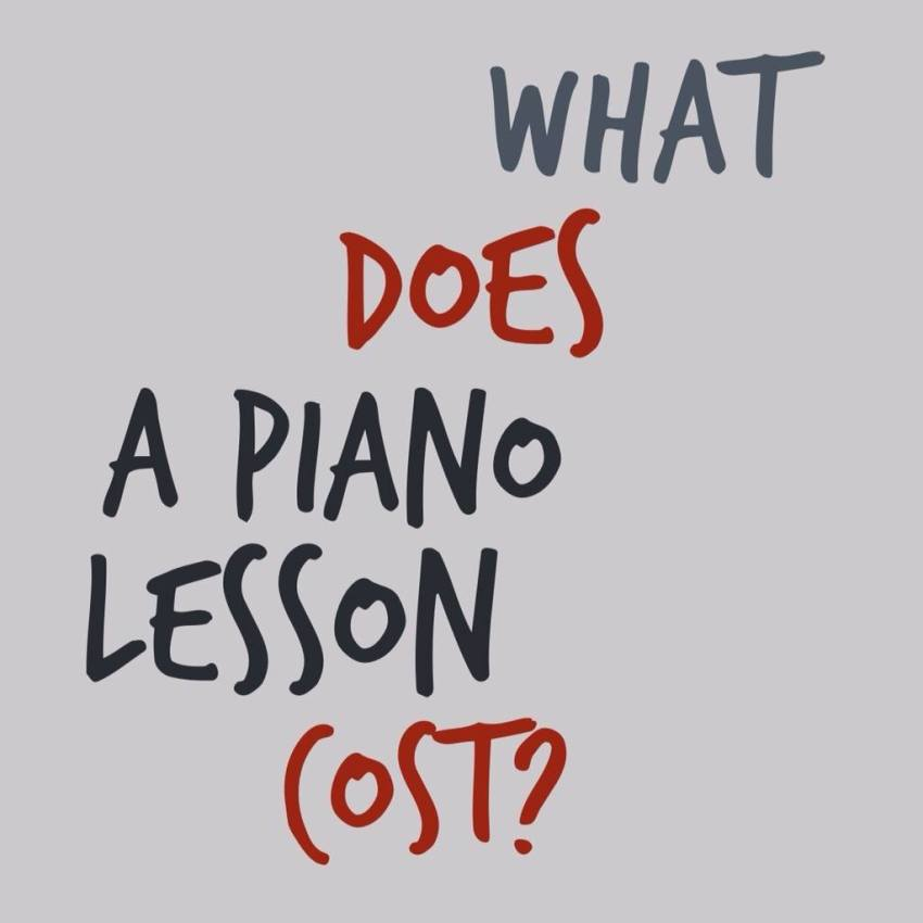 what does a piano lesson cost?