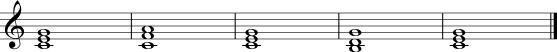 chord changes I IV V